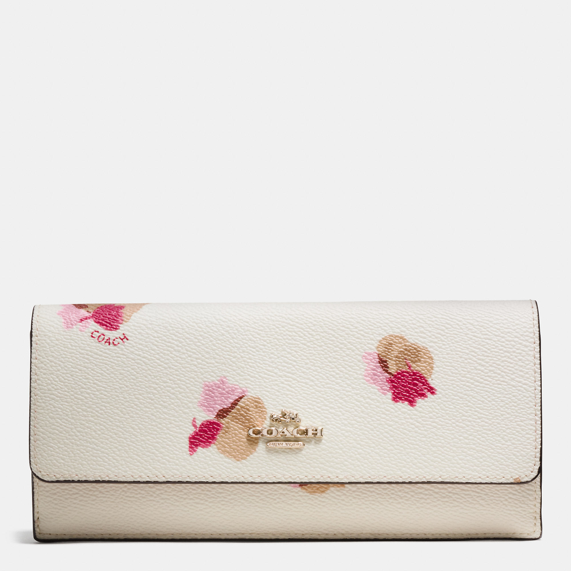 Lyst Coach Soft Wallet In Floral Print Coated Canvas In White