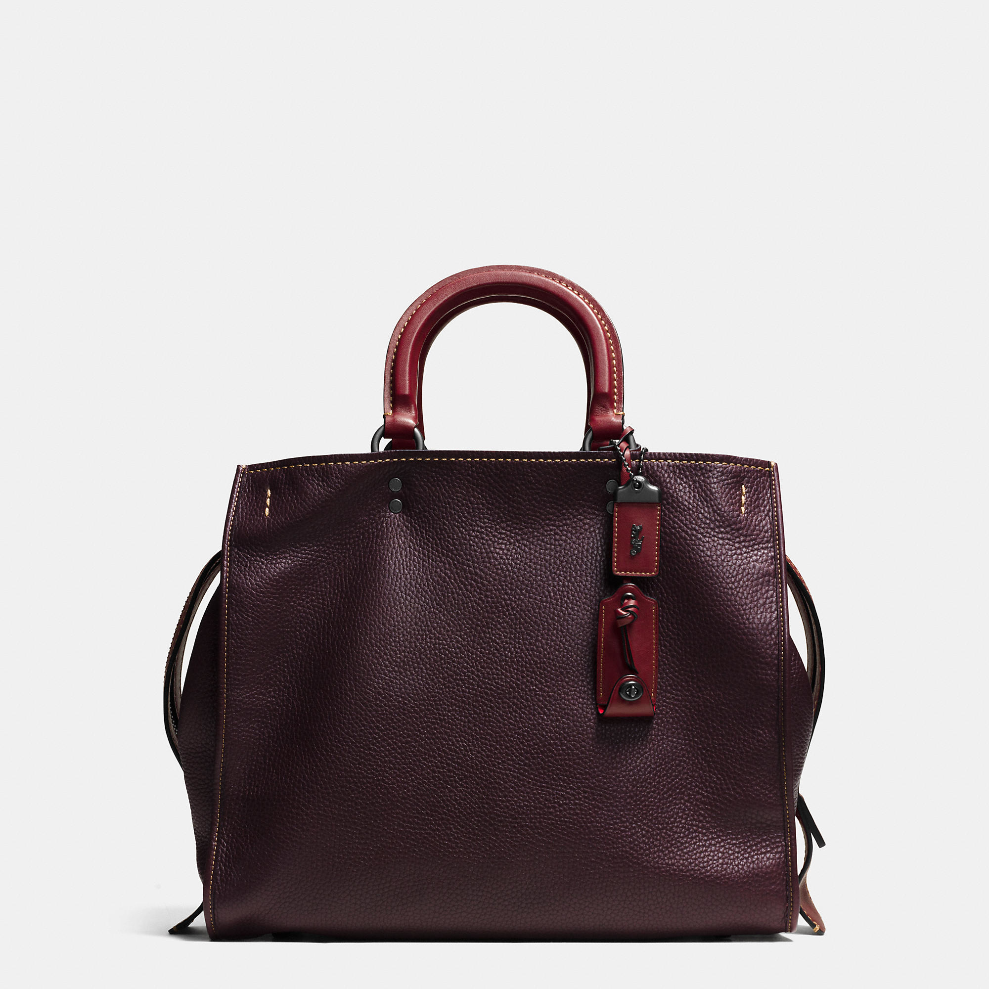 98fb0cb3c ... switzerland lyst coach rogue bag 36 in glovetanned pebble leather in  black ace7c 24a5e