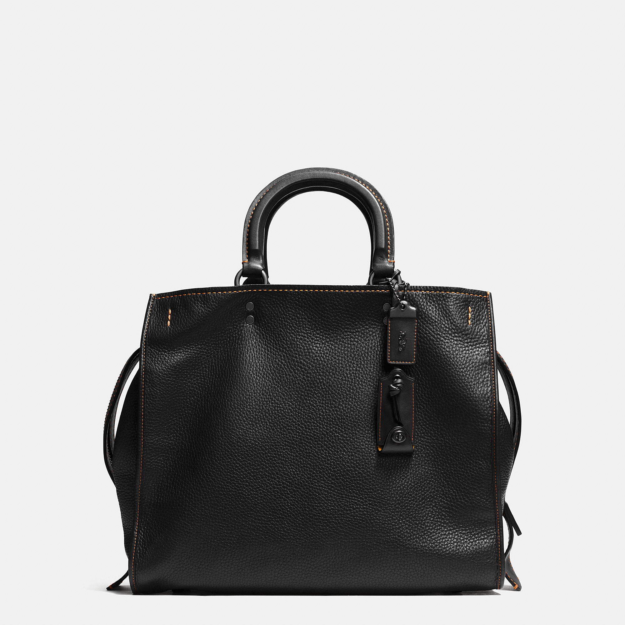 Lyst Coach Rogue 36 Pebbled Leather Tote Bag In Black