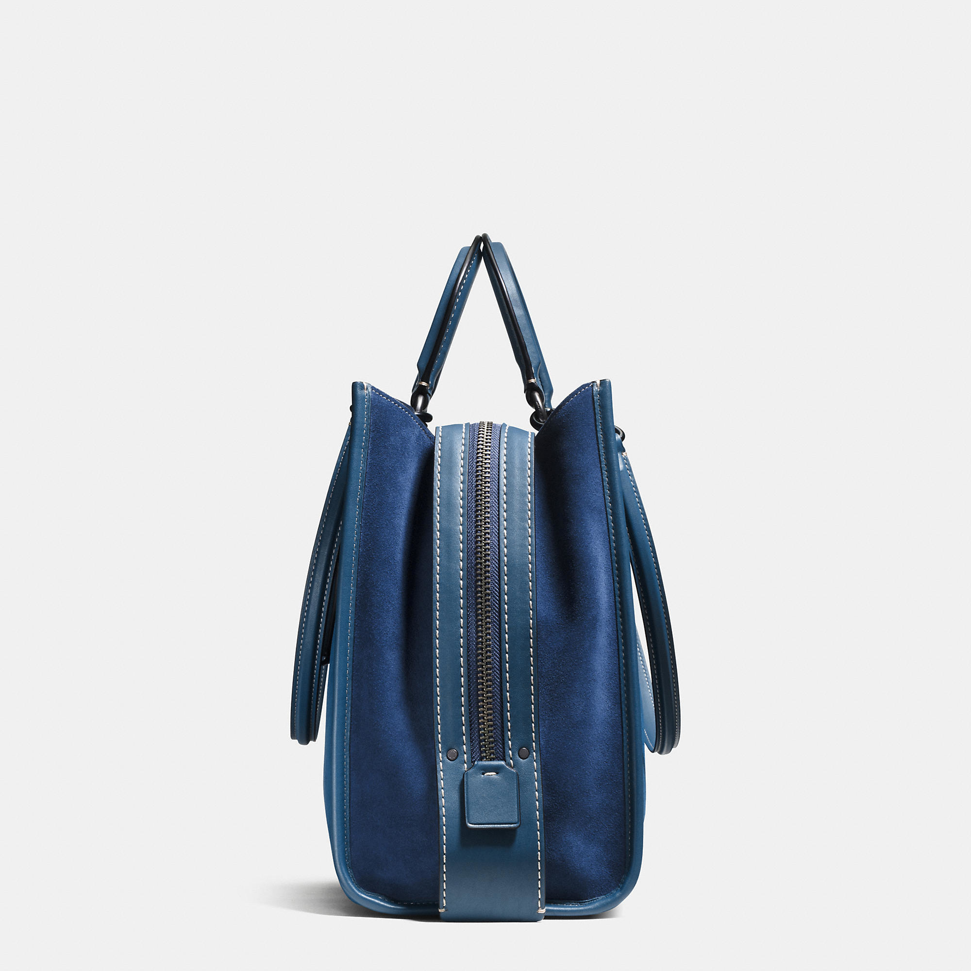 2633eaee59 ... free shipping lyst coach rogue 36 suede tote bag in blue eea25 f7168