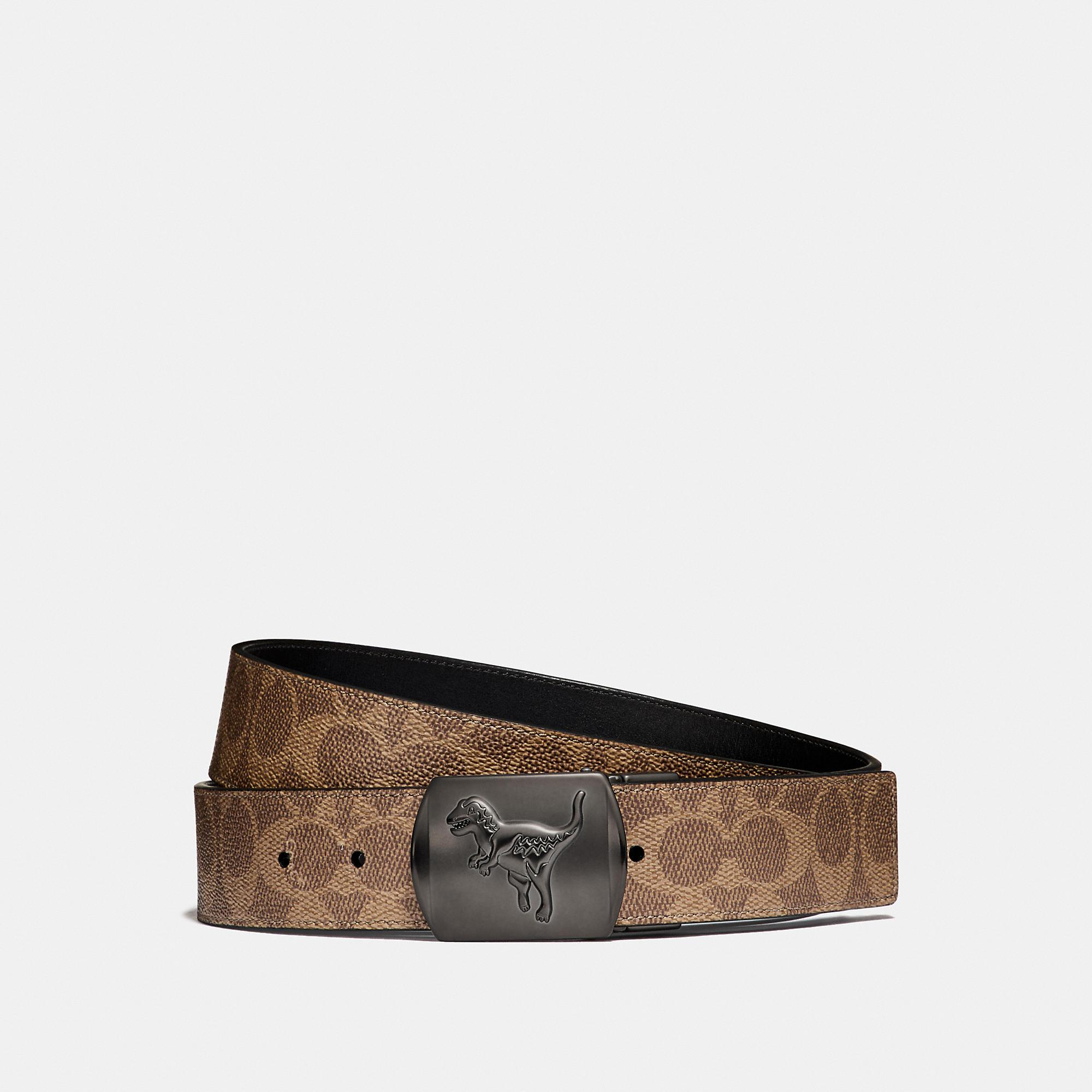 f04c592e351f Lyst - COACH Rexy Signature Cut-to-size Reversible Belt in Black for Men