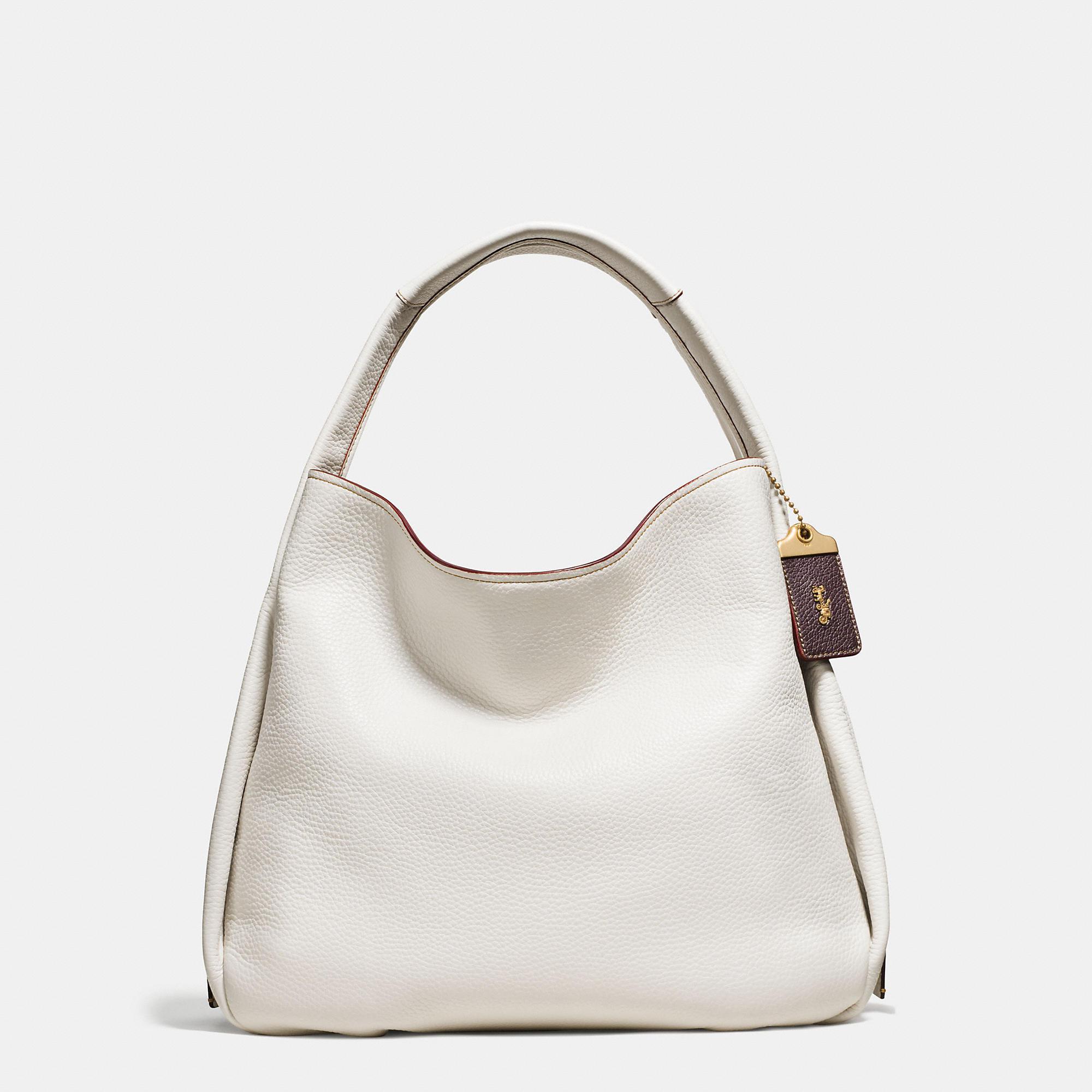 Coach Bandit Hobo 39 In Natural Pebble Leather Lyst