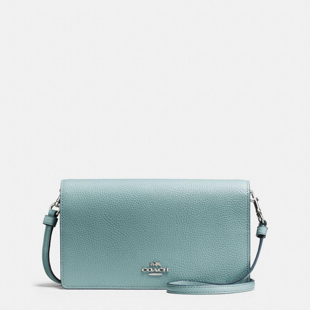 d844676b8e986 Lyst - Coach Foldover Crossbody Clutch In Polished Pebble Leather in ...