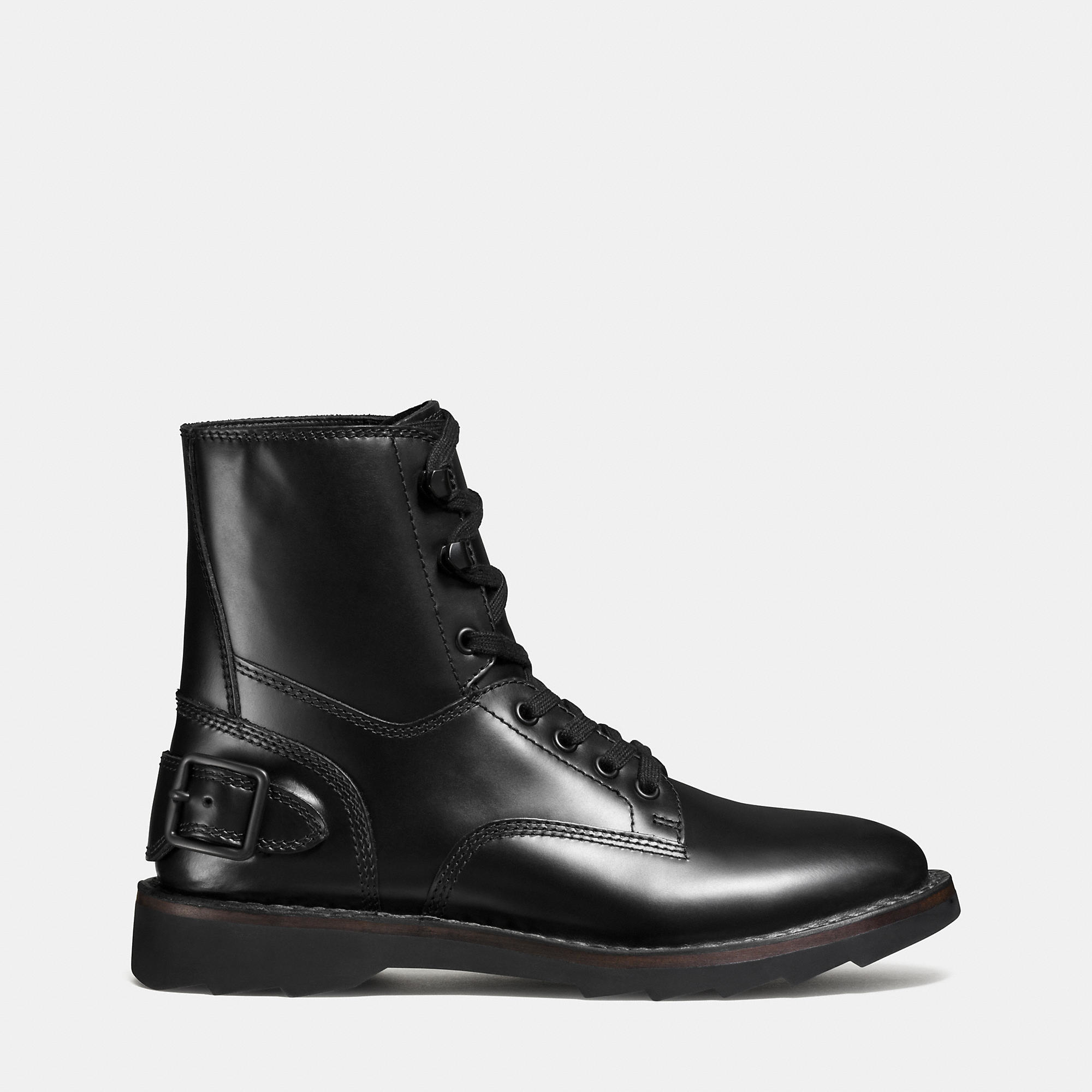 coach combat boot in black lyst. Black Bedroom Furniture Sets. Home Design Ideas