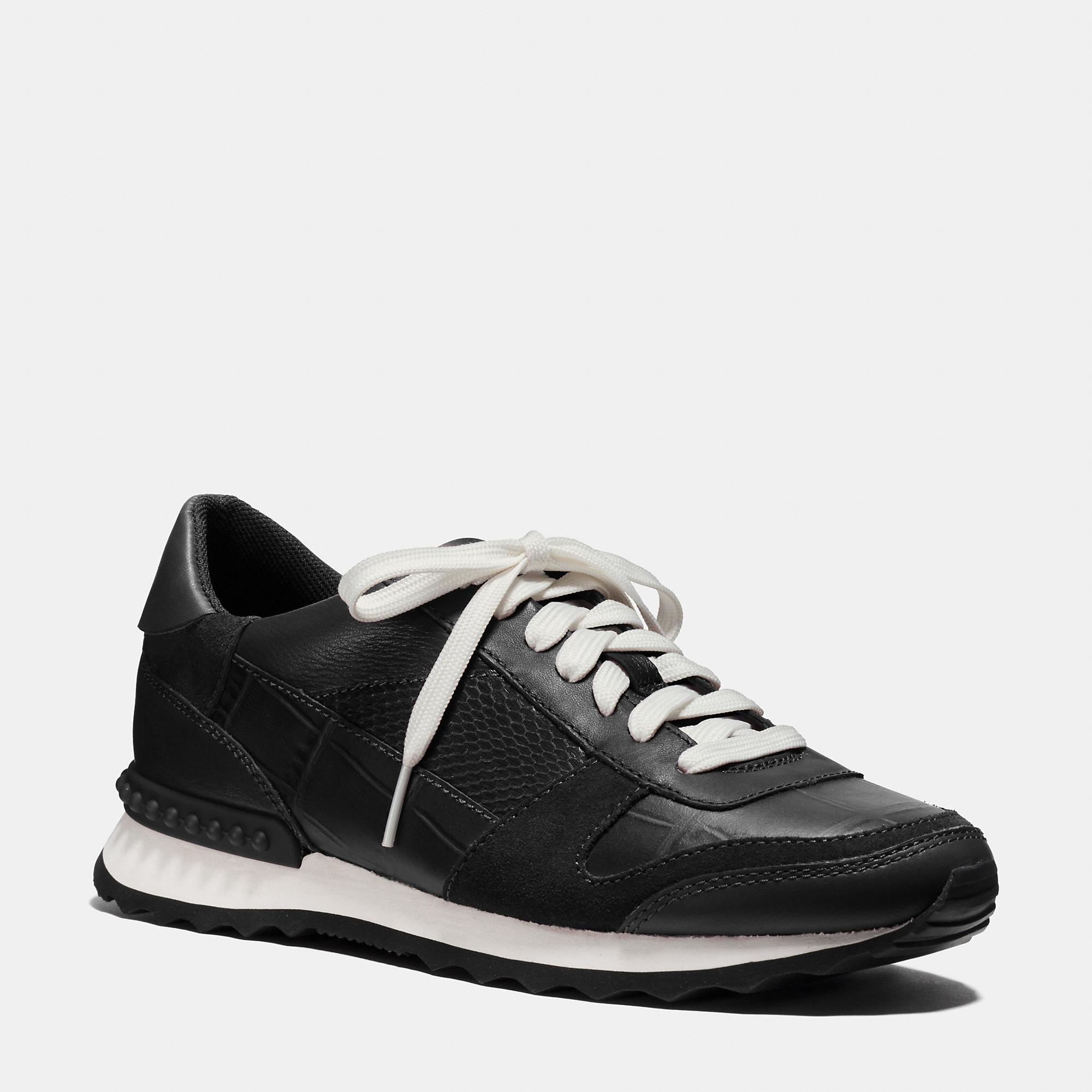 Coach Moonlight Patchwork Sneaker in Black