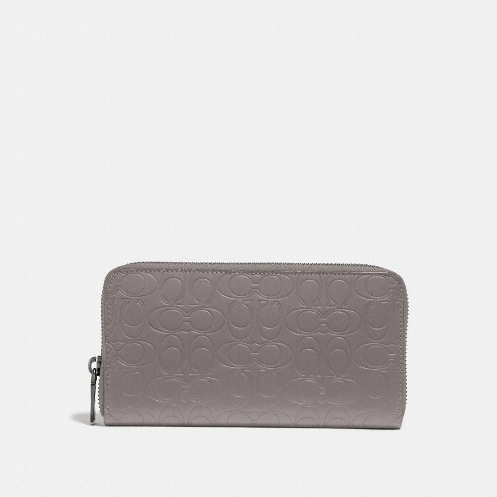 1727ca4fd91e Coach Accordion Wallet In Signature Leather in Gray for Men - Lyst