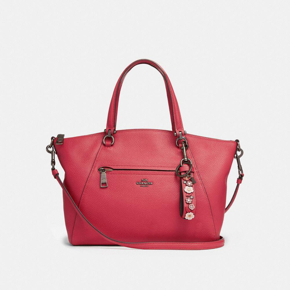 Coach Tea Rose Charm Loop Washed red/black 1qUW5NEAk