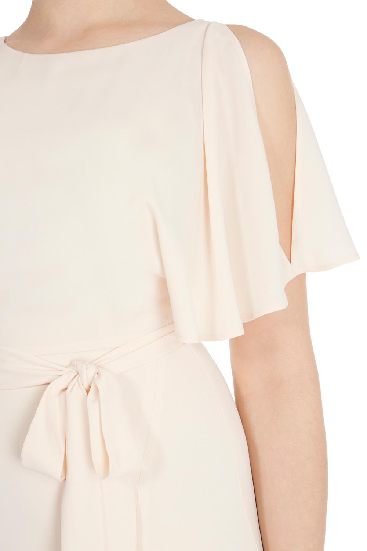 Coast Elina Cold Shoulder Dress in Pink | Lyst