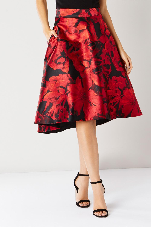 Coast Carmen Jacquard High Low Skirt Lyst