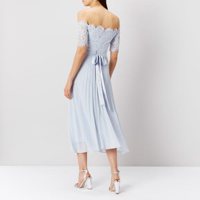 Coast Imi Lace Bridesmaid Dress In Metallic