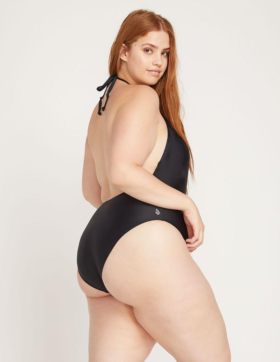 9dc9d8c567c45 Lyst - Volcom Simply Solid One Piece in Black