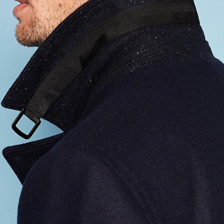95696a8410d84 Ted Baker - Blue Zachary Wool Peacoat for Men - Lyst. View fullscreen