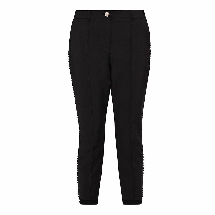 39f54d69d58f02 Ted Baker Anett Side Seam Detail Trousers in Black - Lyst