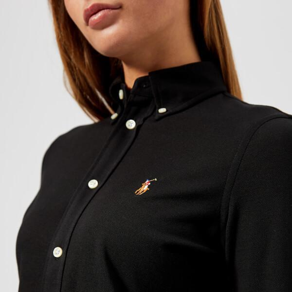 Lyst - Polo Ralph Lauren Women s Long Sleeve Oxford Shirt in Black 84b8e7e72
