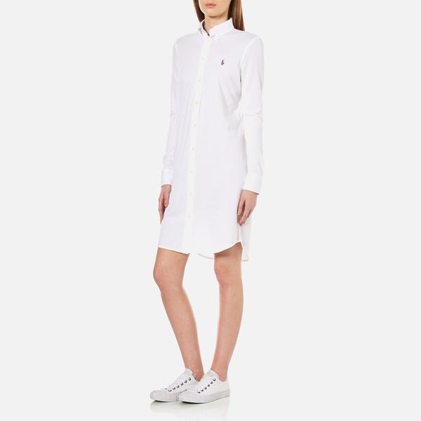 Lyst Polo Ralph Lauren Women S Oxford Shirt Dress In White