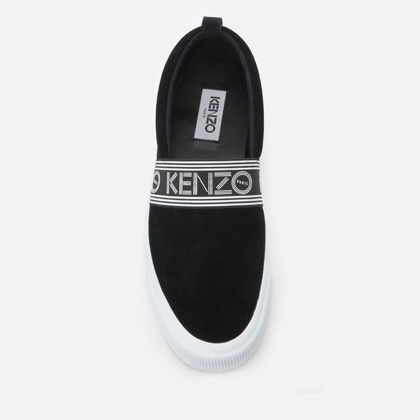 6d0b4238 KENZO Black Suede Kapri Slip-on Sneakers in Black for Men - Save 50 ...