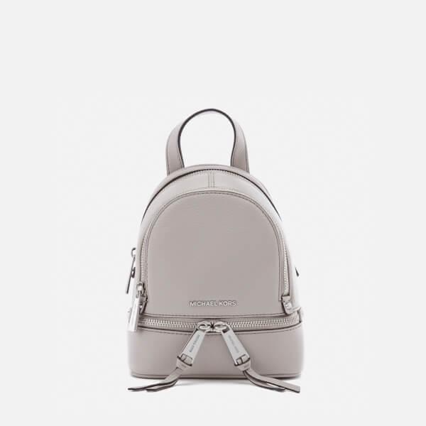 f0e187d2959b ... reduced michael michael kors womens rhea zip extra small backpack in  gray 25ca4 f9384