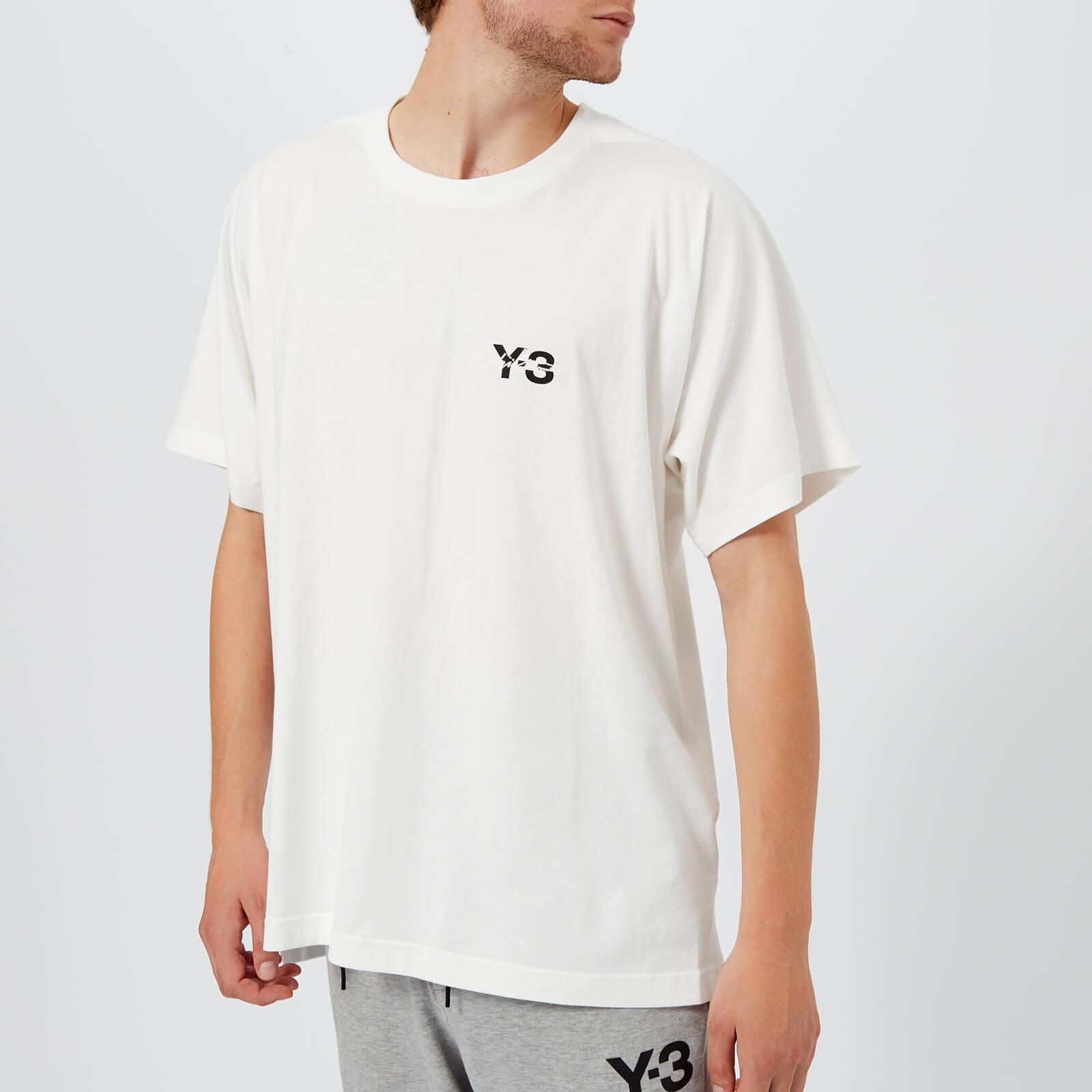 new product b0490 81b41 Y-3. Men s White Signature Short Sleeve T-shirt