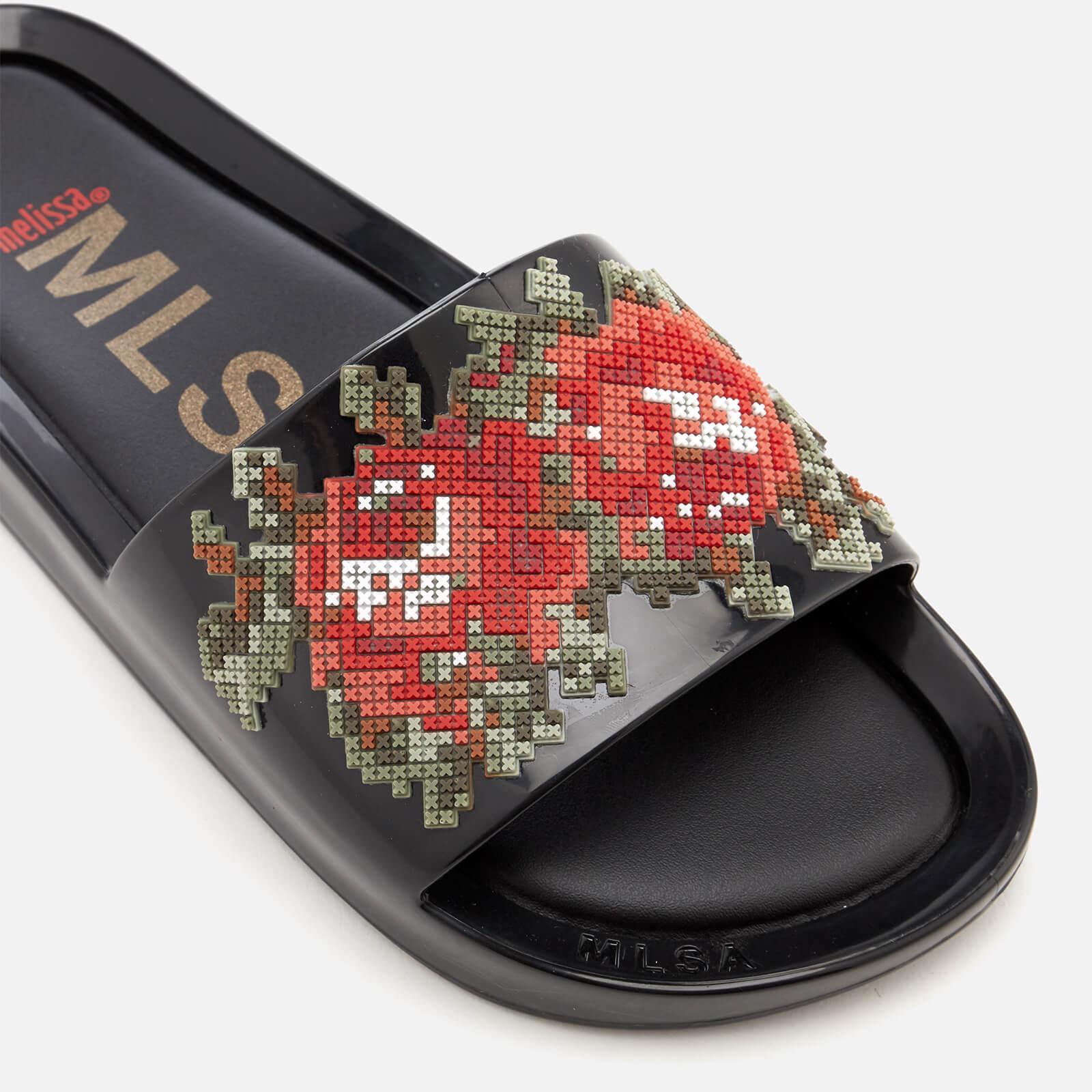 2de62ad866e3d3 Melissa - Black Flower Pixel Beach Slide Sandals - Lyst. View fullscreen