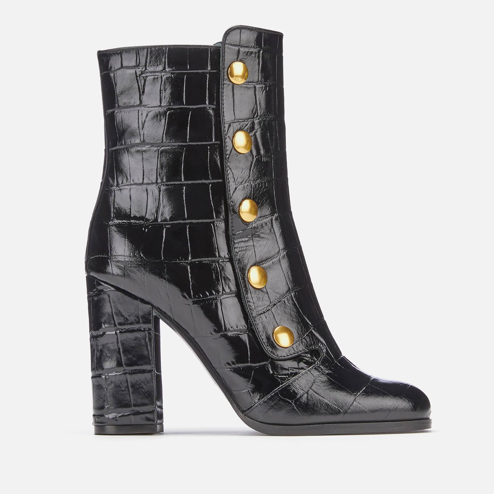 14ea8179780 ... Mulberry - Black Marylebone Leather Heeled Boots - Lyst. Visit Coggles.  Tap to visit site