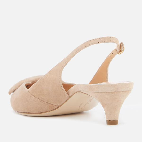 2b6b312ed83e Rupert Sanderson - Natural Women s Misty Suede Kitten Heel Court Shoes -  Lyst. View fullscreen