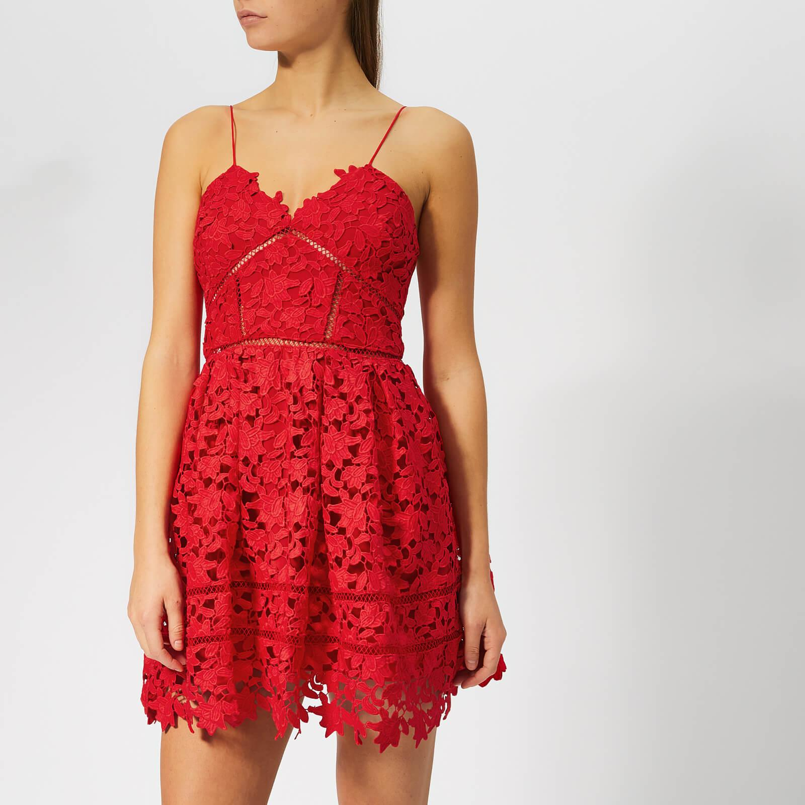 21915c83e87f Lyst - Self-Portrait Mini Azalea Dress in Red