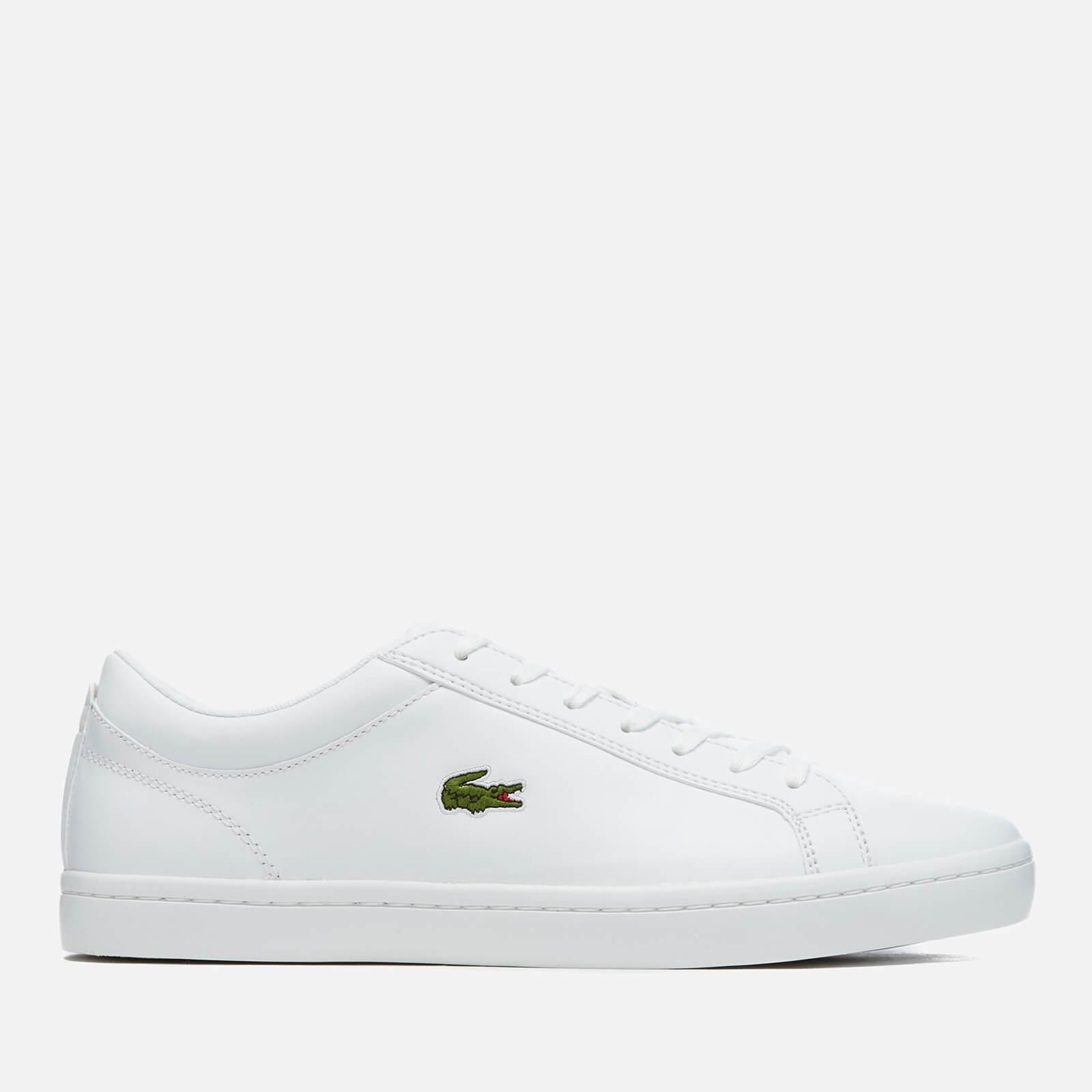 9461fc303 Lyst - Lacoste Straightset Bl 1 Leather Trainers in White for Men