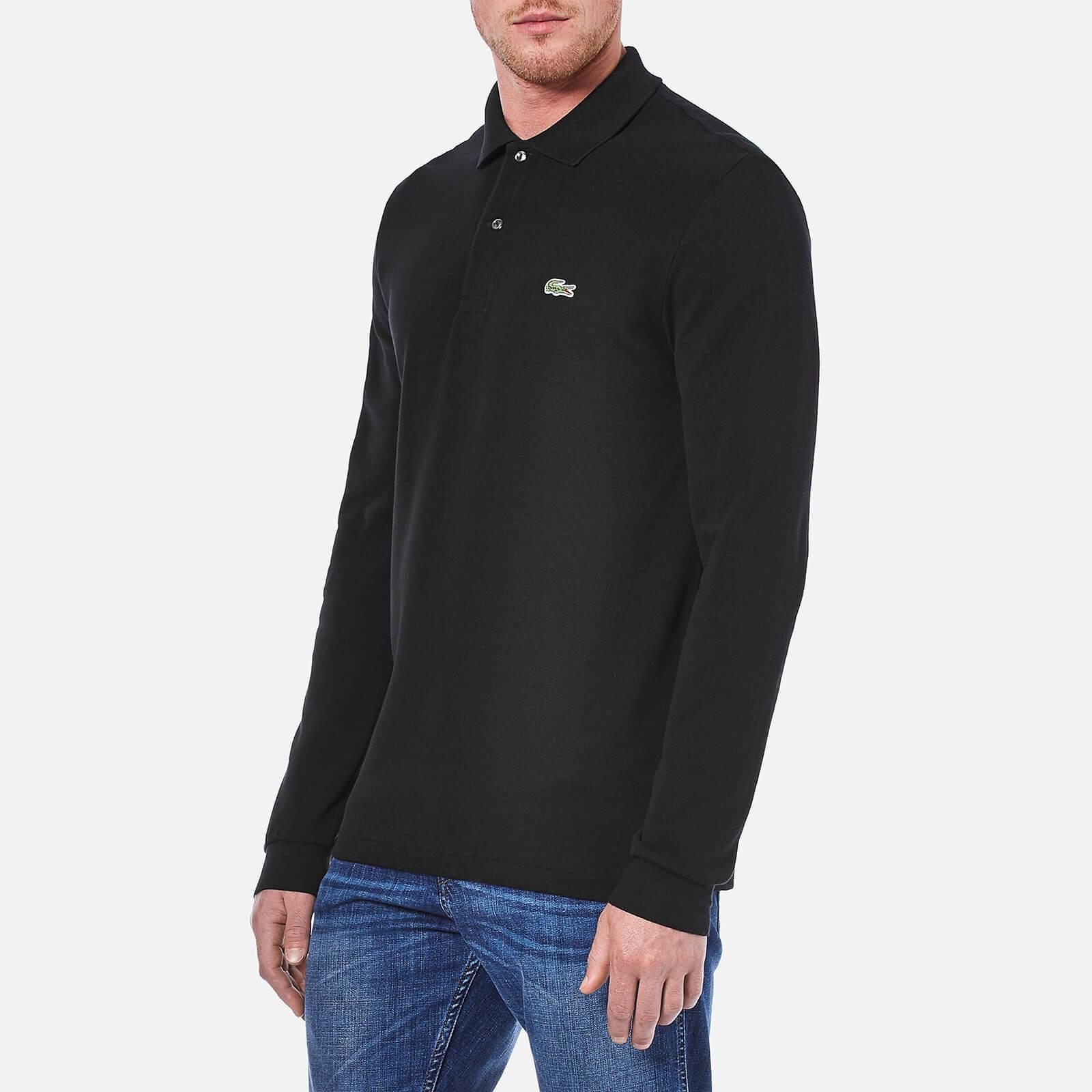 57c9fbe5b69f Lacoste - Black Long Sleeve Polo Shirt for Men - Lyst. View fullscreen