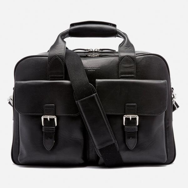 Aspinal Menu0026#39;s Harrison Overnight Business Bag In Black For Men - Lyst