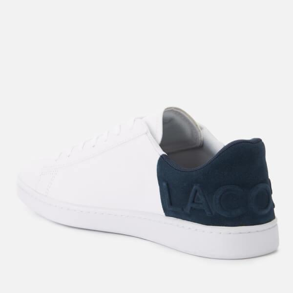 b1db8ce933e96d Lacoste Men s Carnaby Evo 318 6 Leather suede Trainers in White for ...