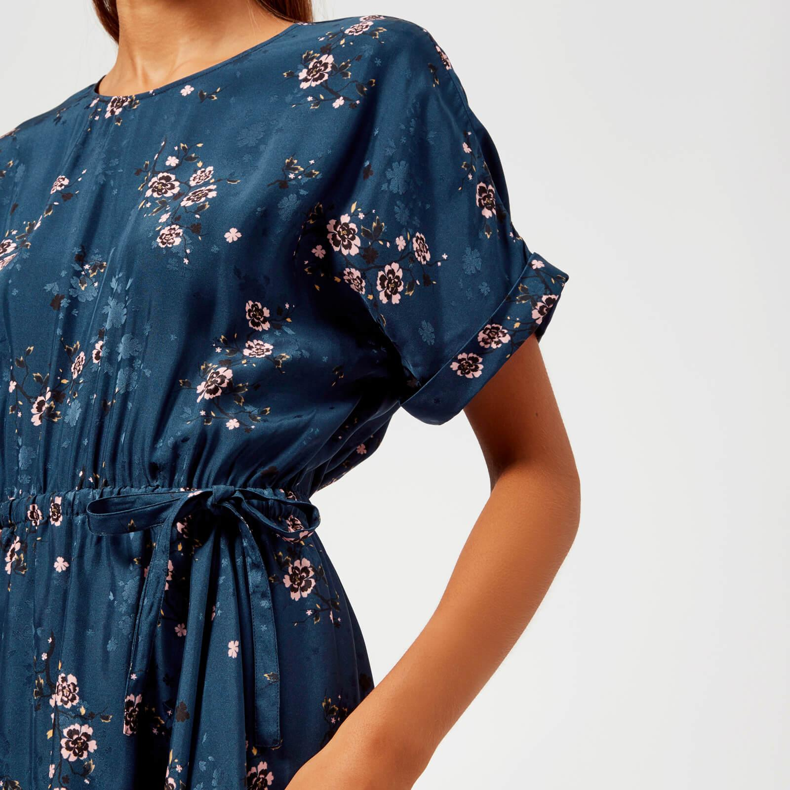 9b94d2fad5c00 KENZO - Blue Cheongsam Flower Dress - Lyst. View fullscreen