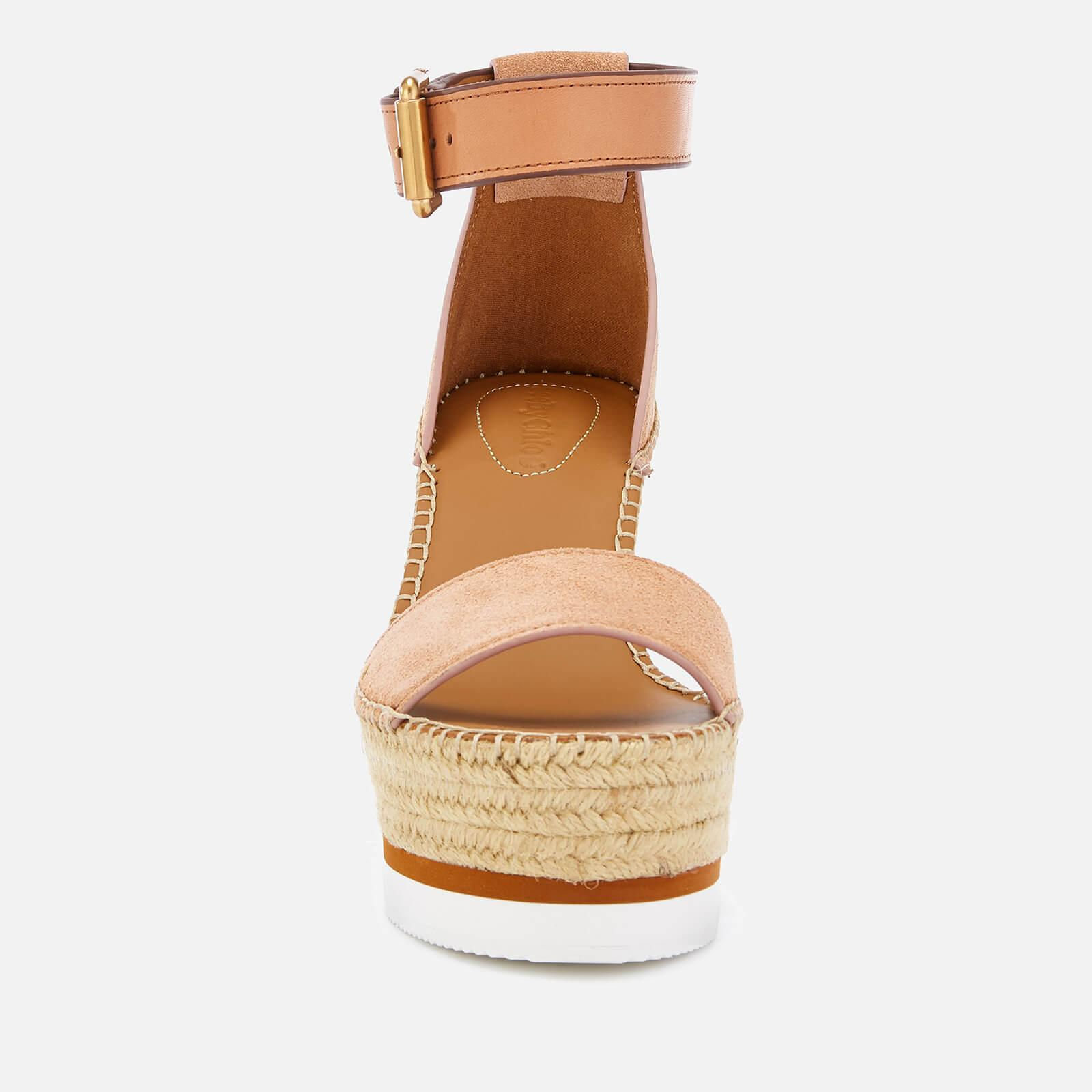 89ca50d242f See By Chloé - Pink Glyn Suede Espadrille Wedge Sandals - Lyst. View  fullscreen