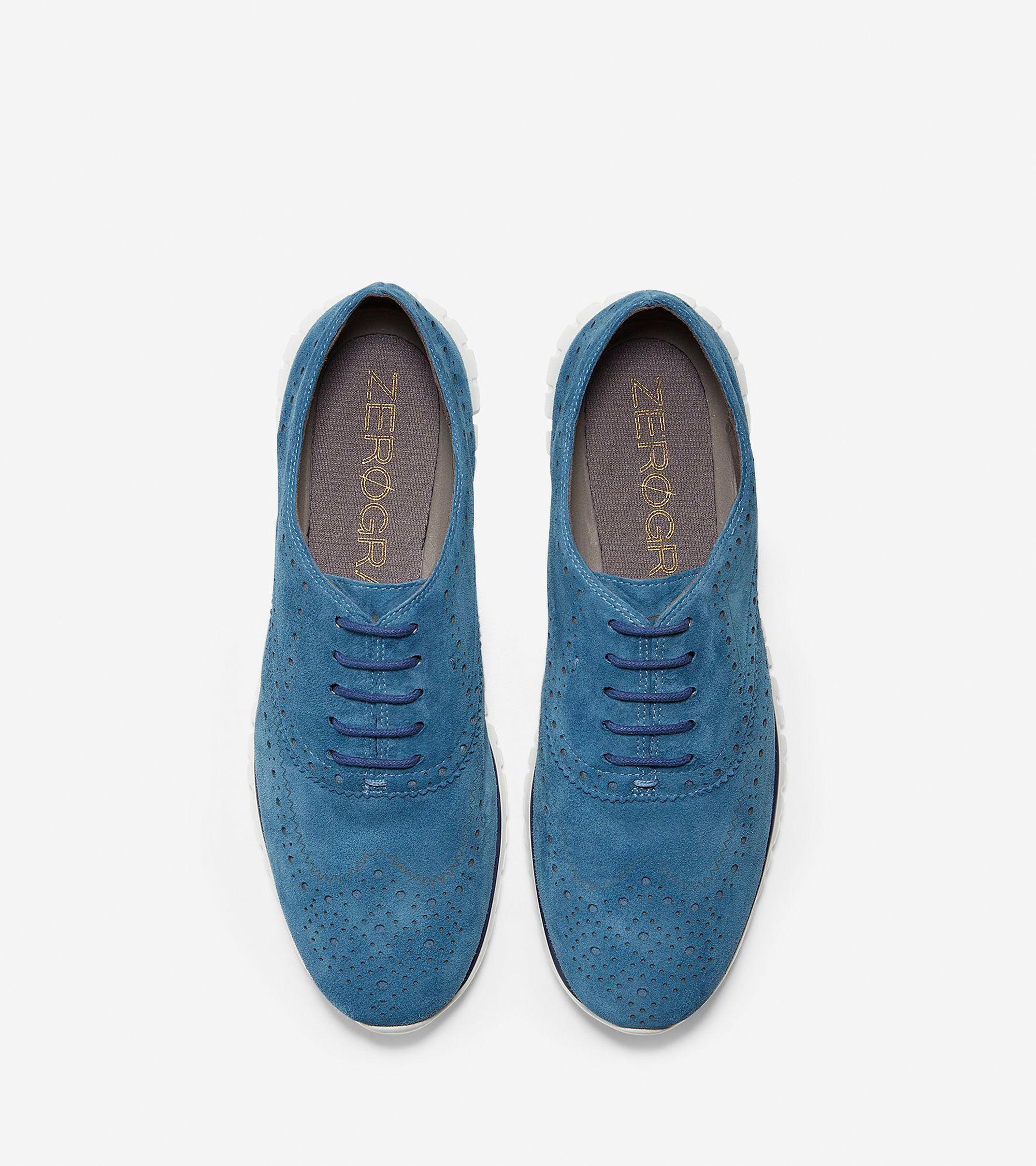 Cole haan Women's Zerøgrand Wingtip Oxford in Blue