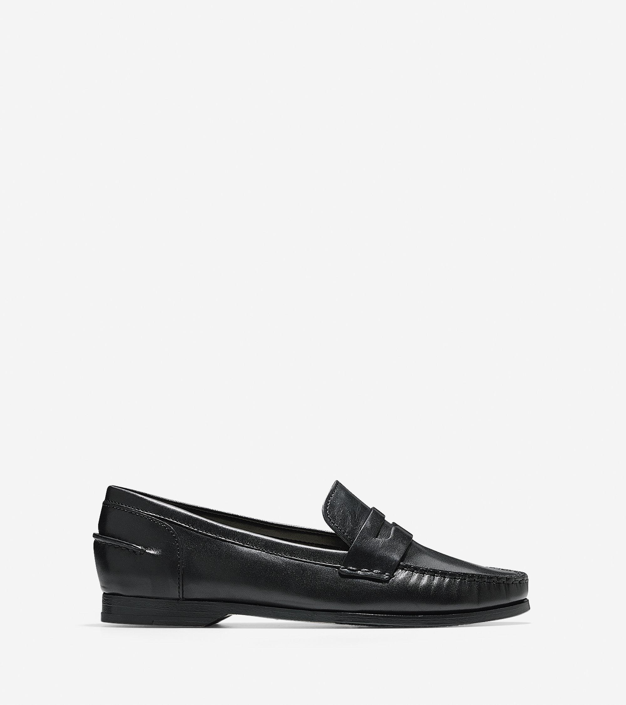 Cole haan Women's Pinch Grand Penny Loafer in Black | Lyst