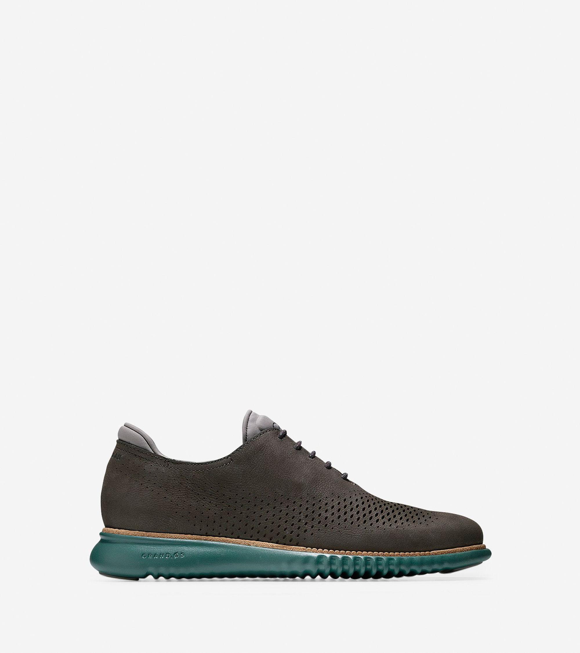 Men S Grey Or Black Nubuck Oxford Shoes