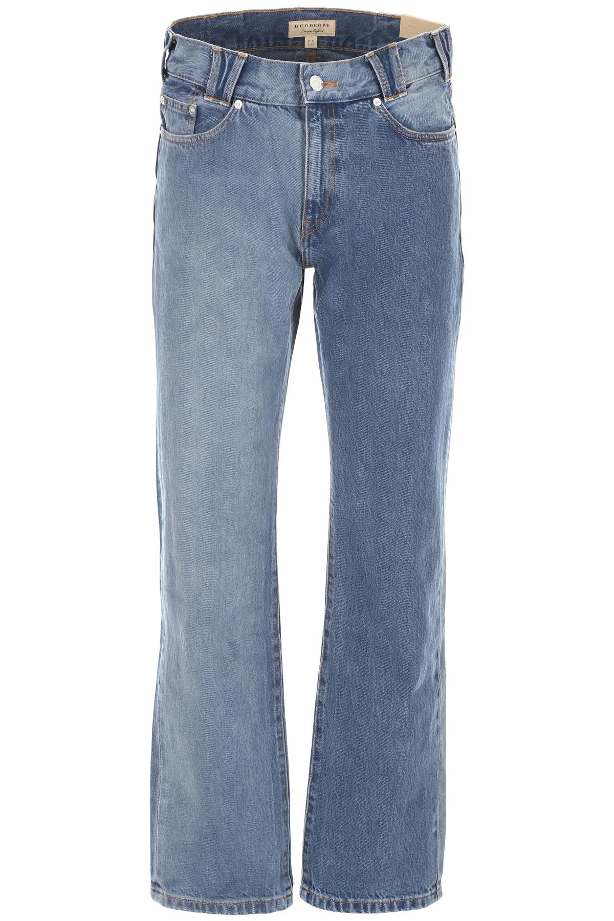 5c686a5b7bef Burberry - Blue Bicolor Jeans for Men - Lyst. View fullscreen