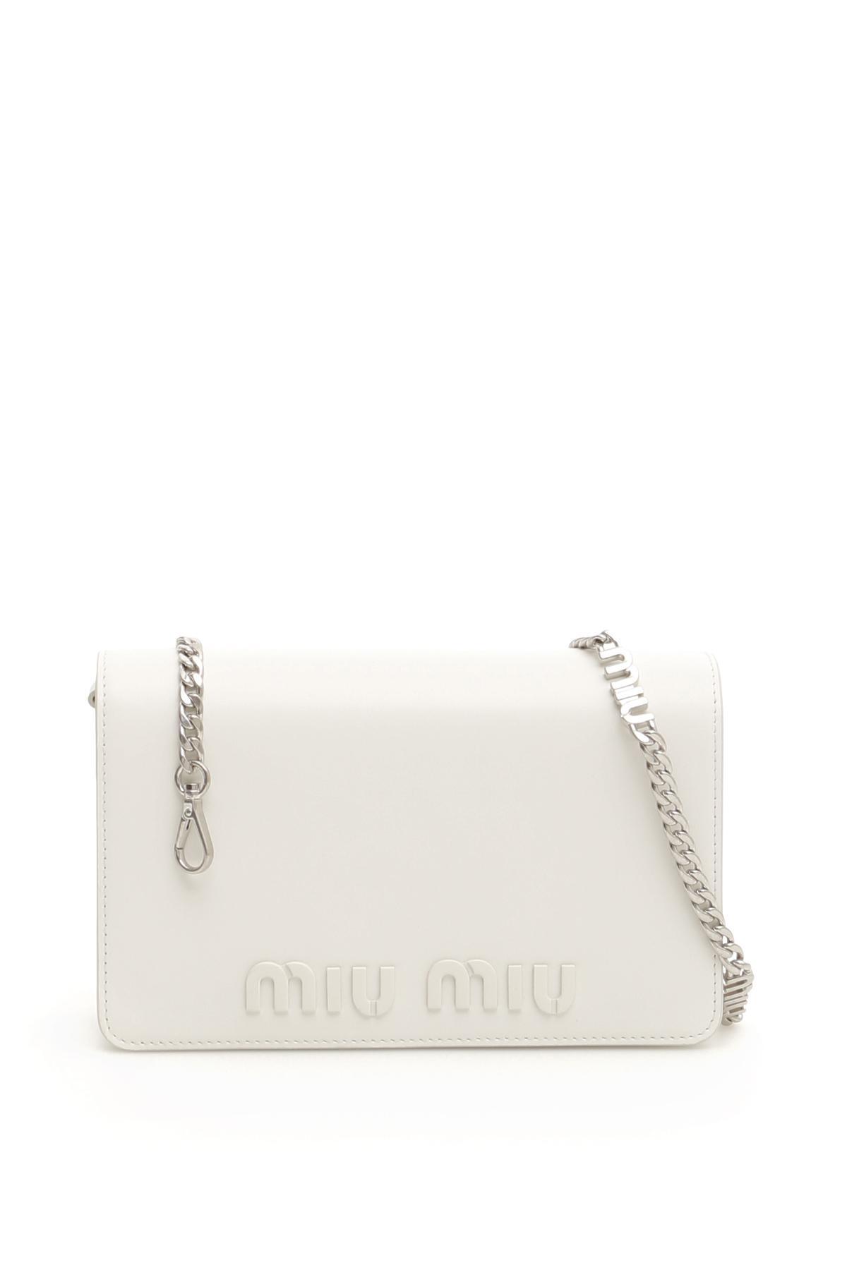 fb93b051b2b Miu Miu Bag With Miu Chain - Lyst