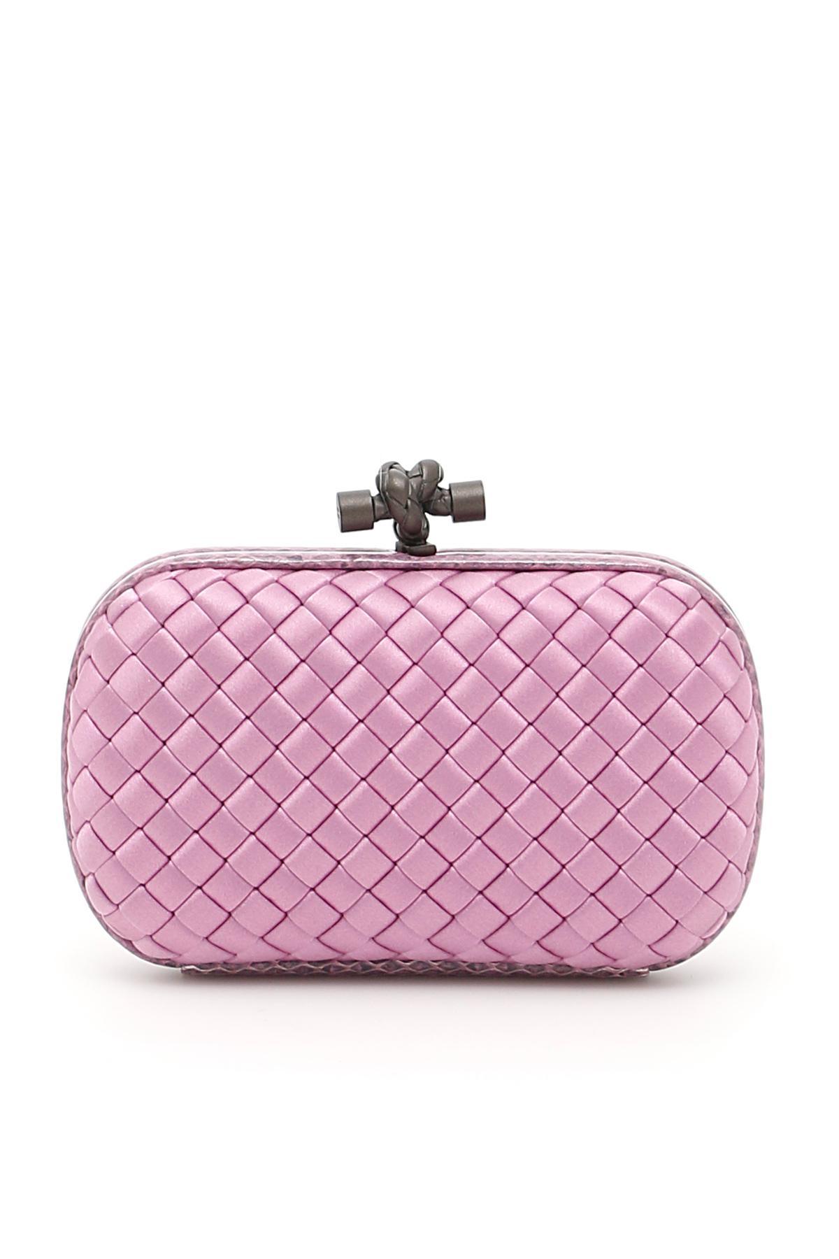 6dd95169e6 Bottega Veneta Knot Clutch in Pink - Lyst