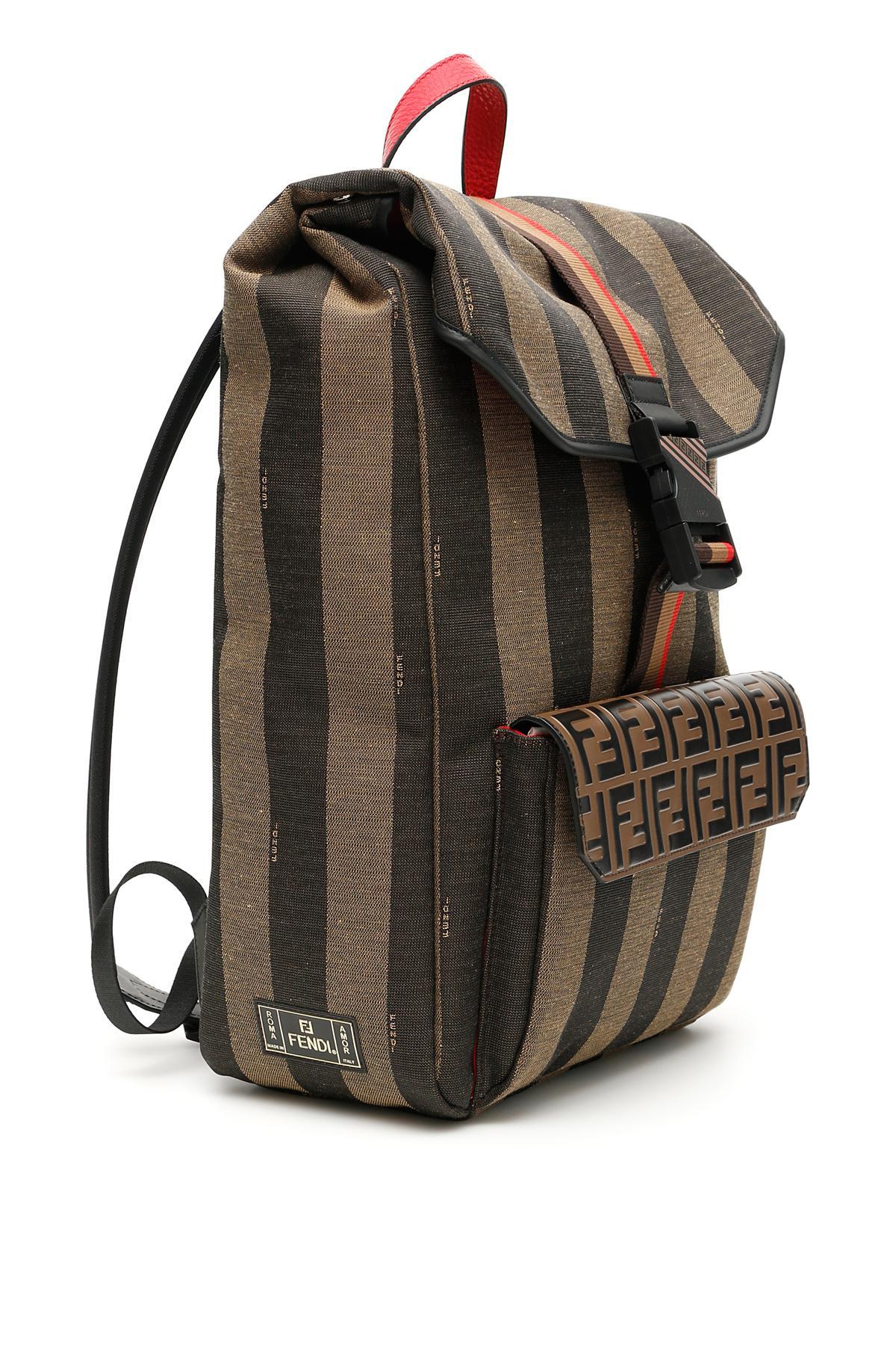 7d018117d2e7 Fendi - Multicolor Ff Striped Canvas Backpack for Men - Lyst. View  fullscreen