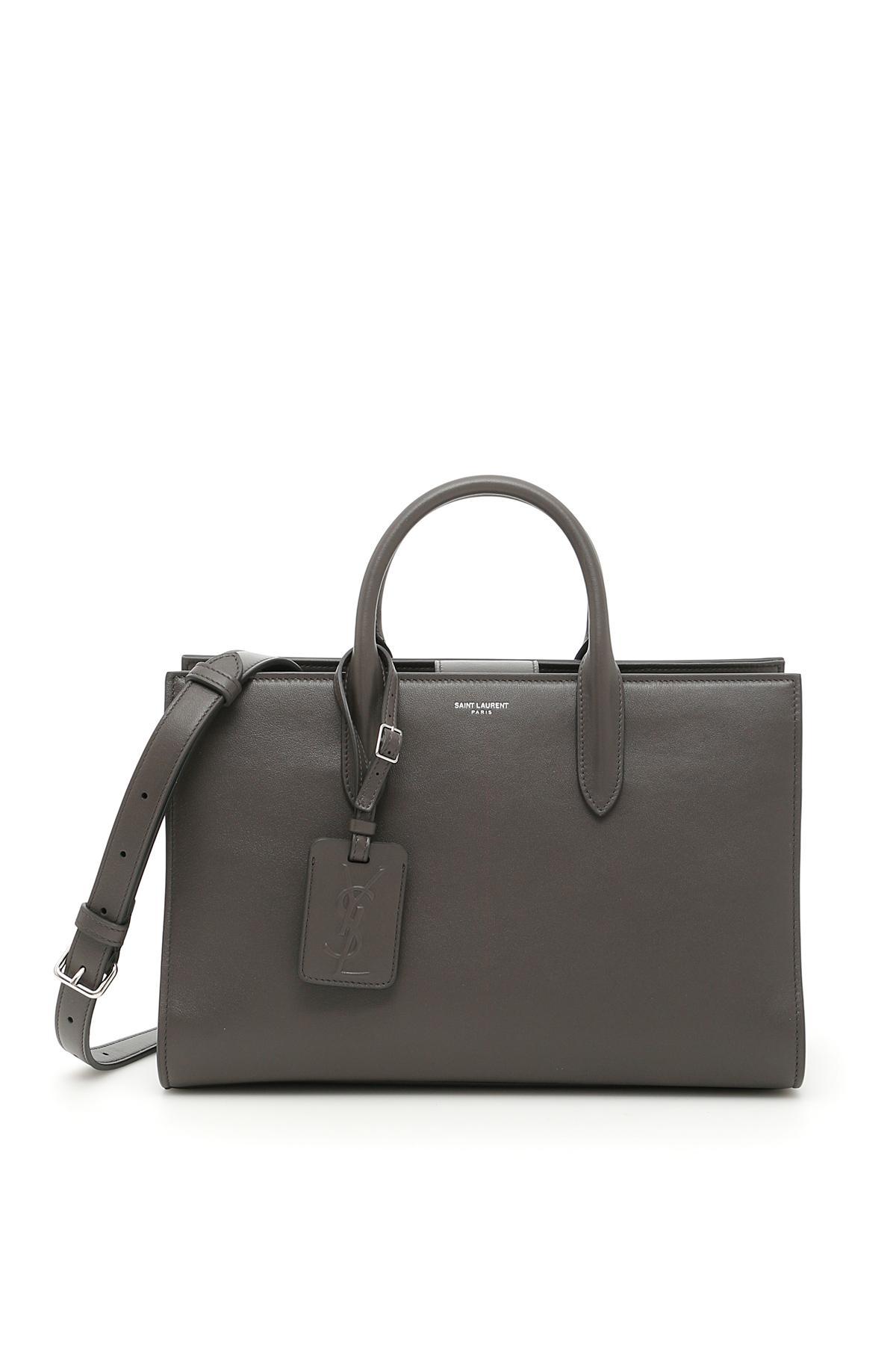 73481a3ae34a Lyst - Saint Laurent Calfskin Medium Jane Bag in Black