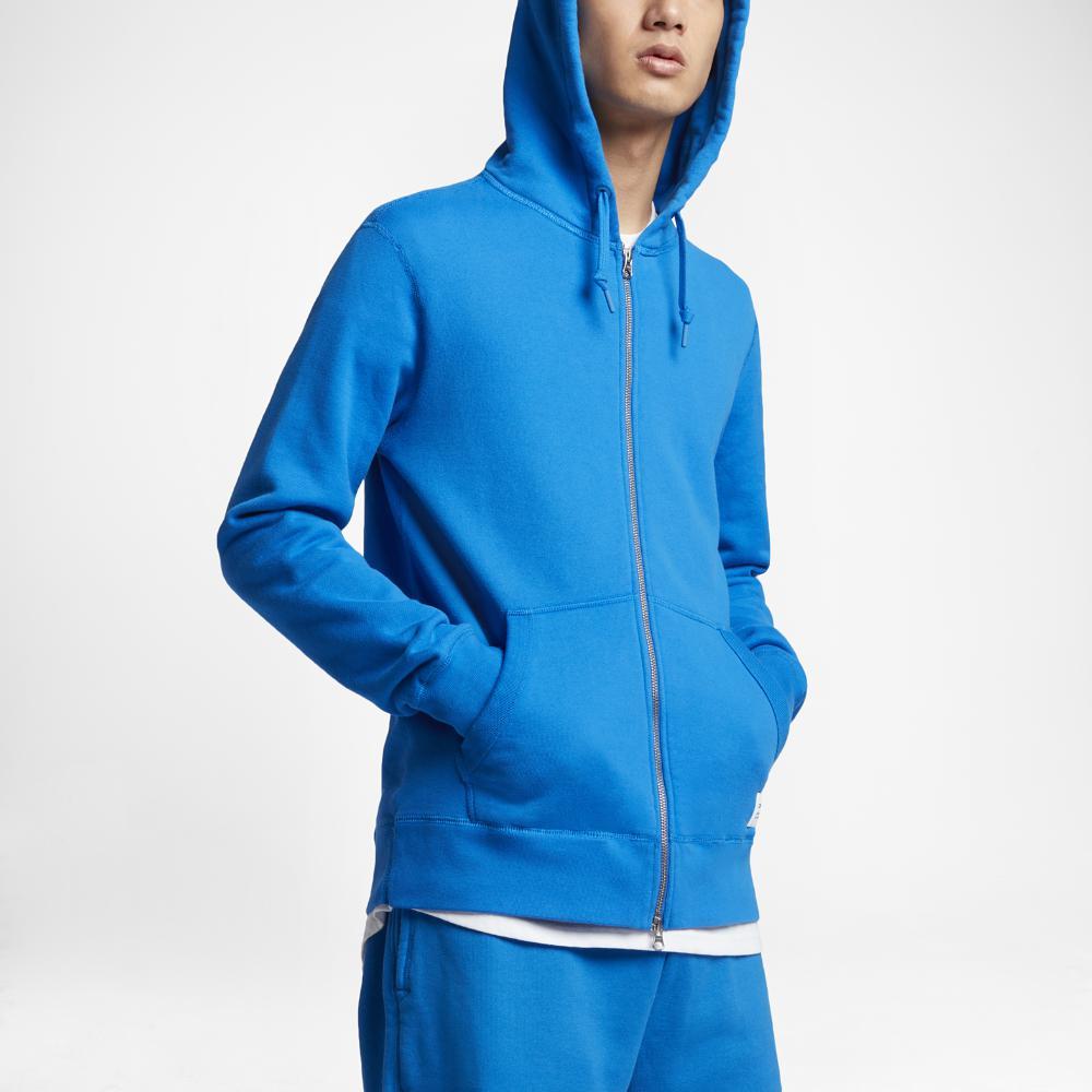 1e01f445174b Lyst - Converse Essentials Sportswear Full-zip Men s Hoodie in Blue ...