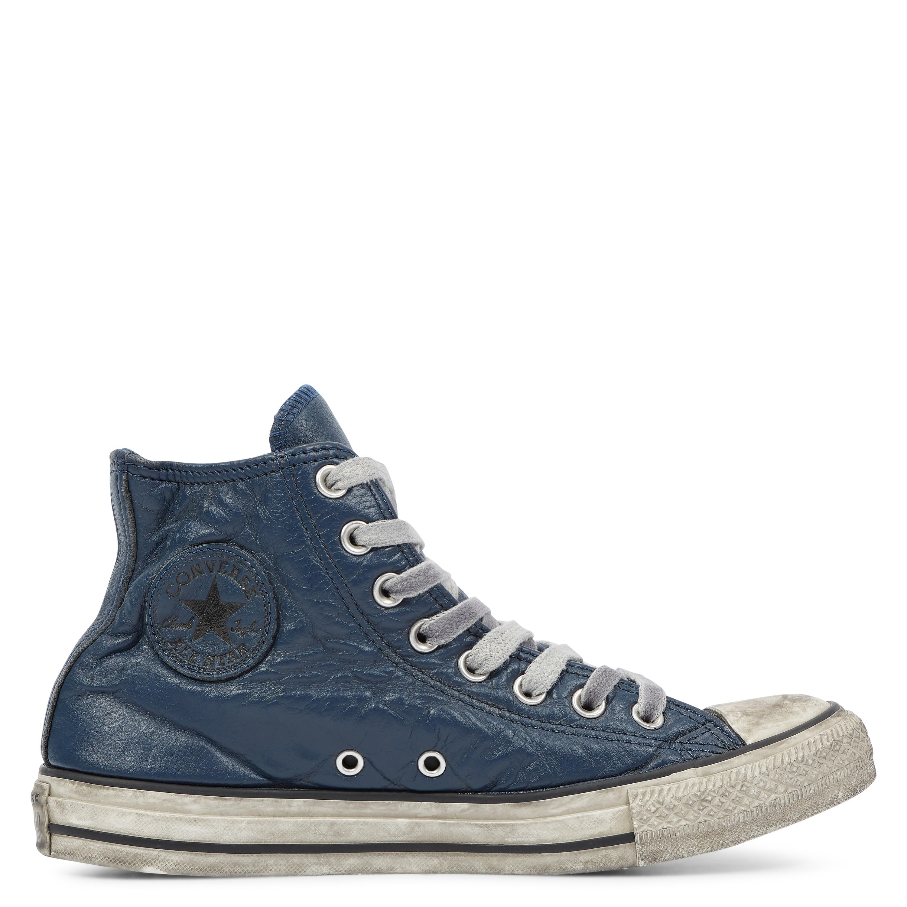 8c4c55daace6c Converse Chuck Taylor All Star Vintage Leather High Top in Blue for ...