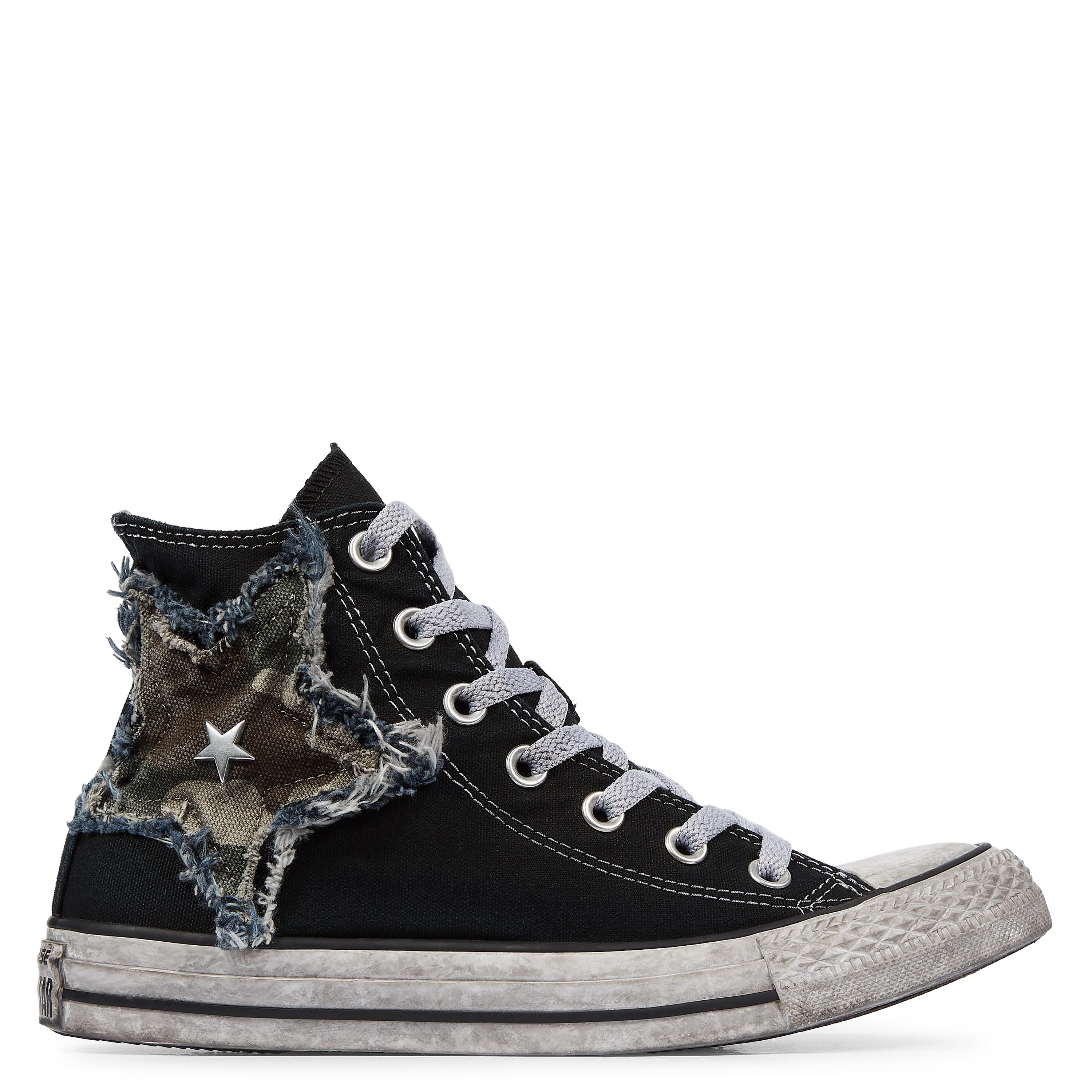 3c9c3cf2ebf61a Converse Chuck Taylor All Star Vintage Camo Star High Top in Black ...