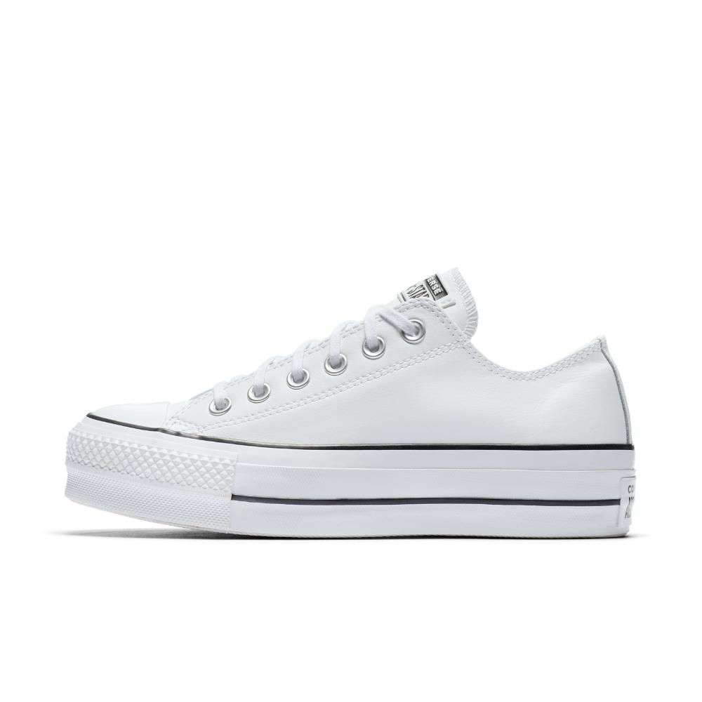 c63098295dc Converse Chuck Taylor All Star Lift Clean Leather Low Top Leather ...