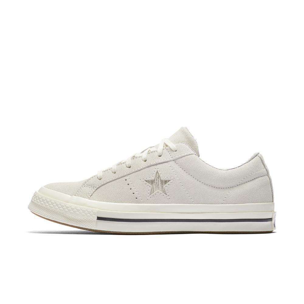 ca1c6585631c11 Lyst - Converse One Star Precious Metal Suede Low Top Women s Shoe ...