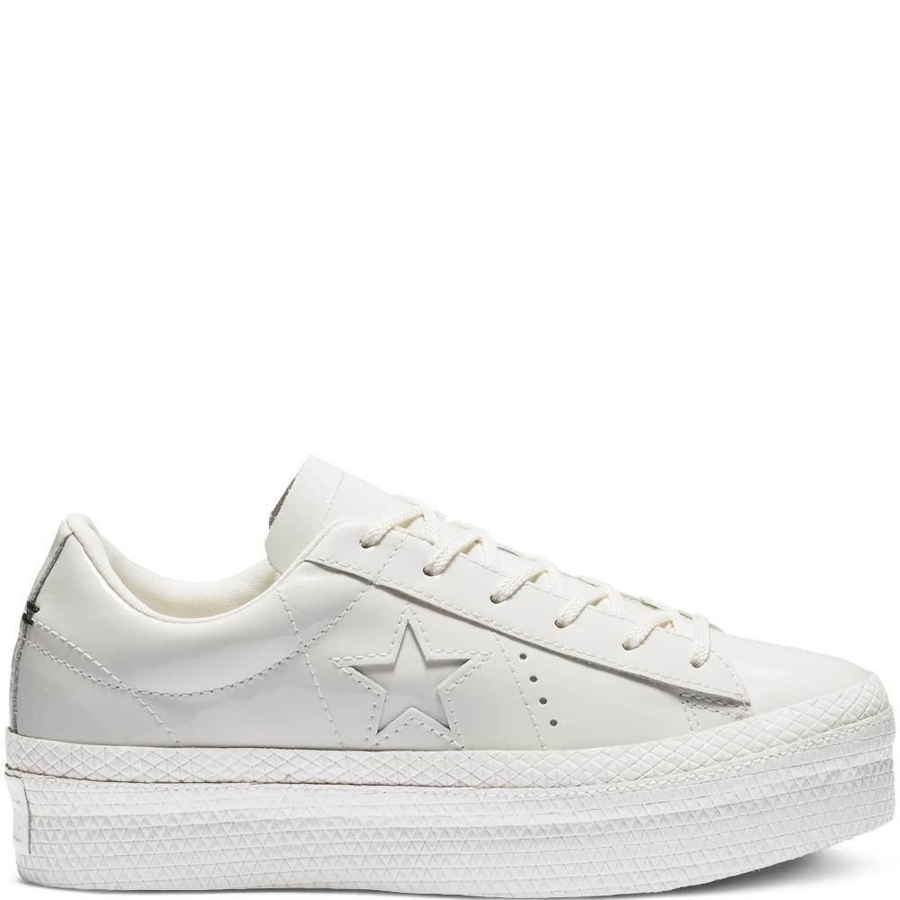 b8a82c472dea Converse One Star Platform Patented  90s Faux Leather Low Top in ...