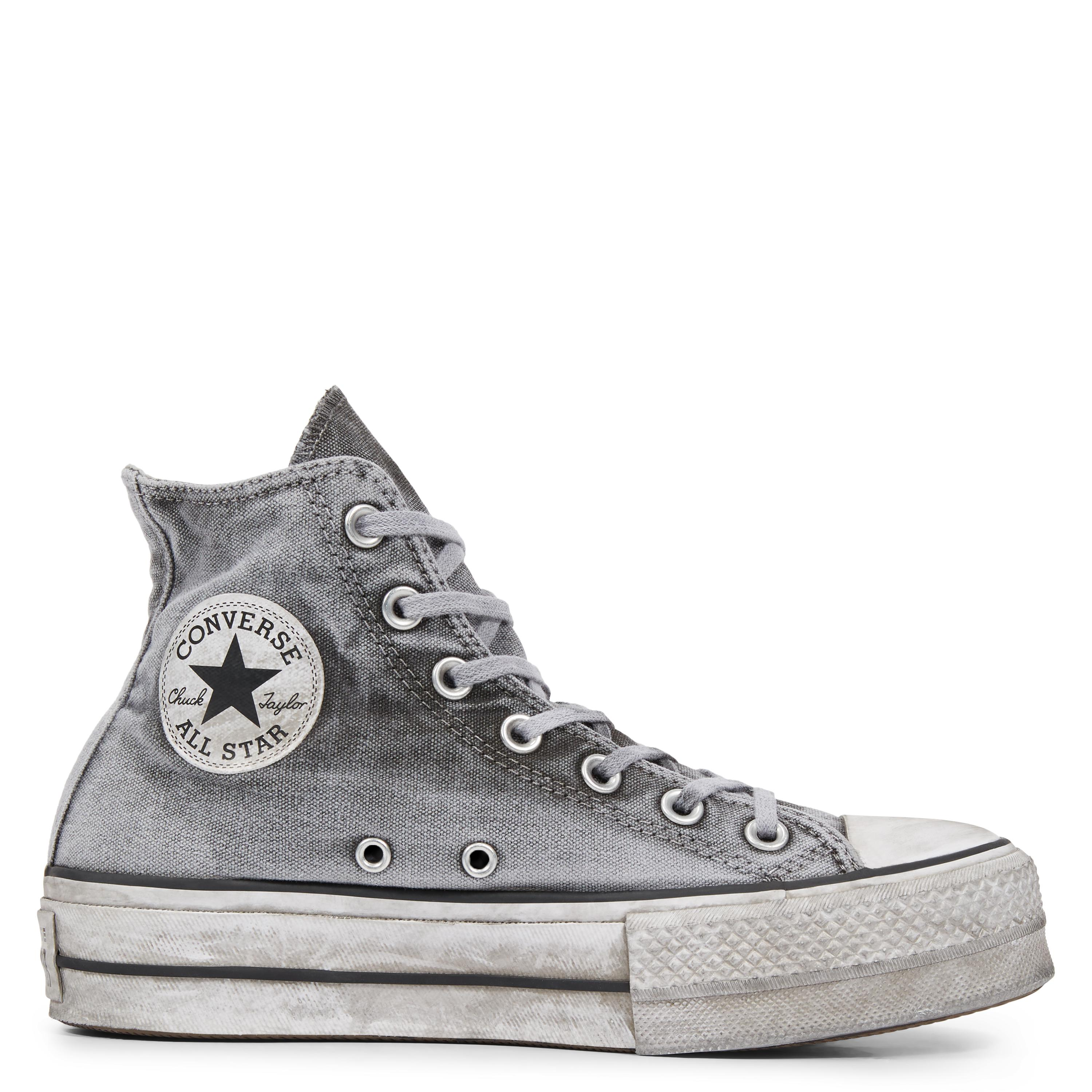 Converse Chuck Taylor All Star Lift Smoked Canvas High Top in Gray ... e73ad16bf