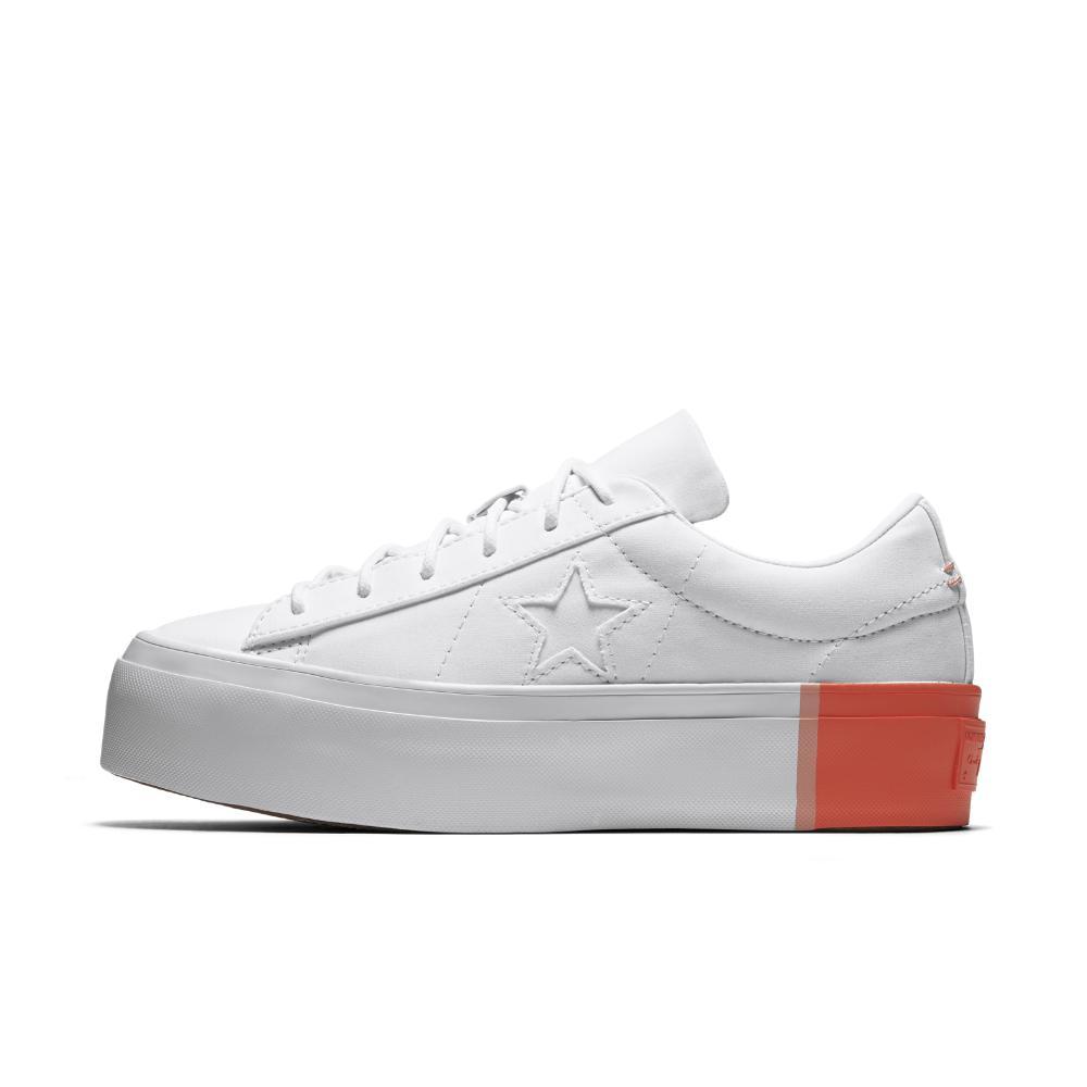 0149f22e31e0 Lyst - Converse One Star Platform Blocked Low Top Women s Shoe in White