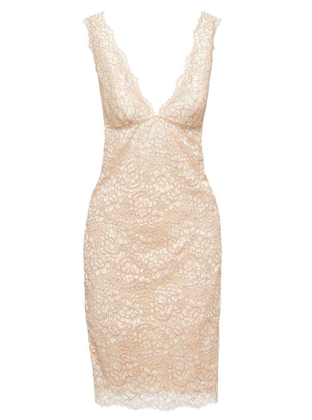 Lyst cosabella pret a porter lace dress in white for Pret a porter uk