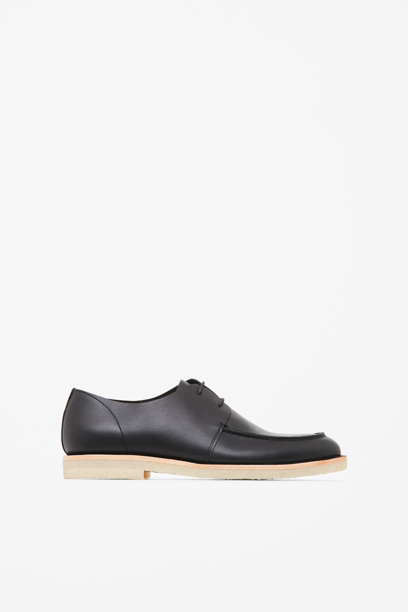 cos deck shoes in black for lyst